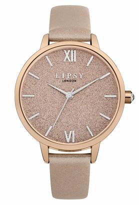 Lipsy Womens Analogue Classic Quartz Watch with PU Strap LP614