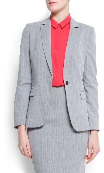 MANGO Outlet Tailored Stripes Blazer