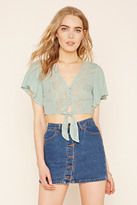 Forever 21 FOREVER 21+ Contemporary Crochet Crop Top