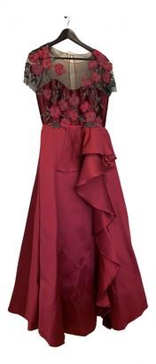 Marchesa Burgundy Glitter Dress for Women