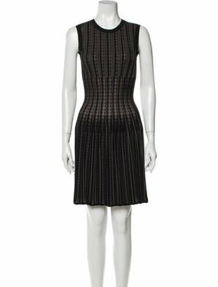 Alaia Striped Mini Dress Black