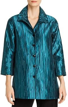 Caroline Rose Ruched Detail Textured Jacket