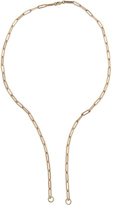 Foundrae Open Classic FOB Clip Chain Necklace - Rose Gold