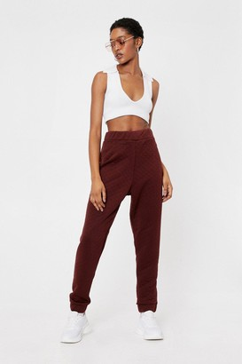 Nasty Gal Womens Never Had Quilt So Good Relaxed Joggers - Brown - 6