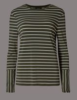 Marks and Spencer Striped Slinky Long Sleeve Top