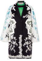 Valentino Appliquéd Wool And Cashmere-blend Felt Coat - Black