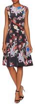 Mary Katrantzou Masson Silk Printed Flared Dress