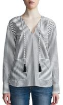 DAY Birger et Mikkelsen Two-Tone Striped V-Neck Top