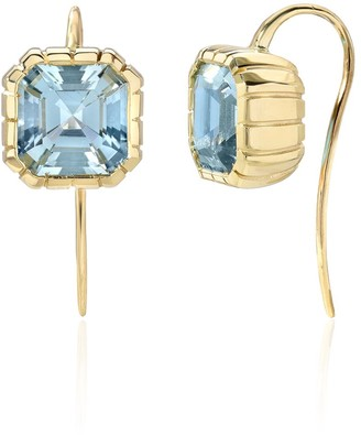 Retrouvaí 14kt yellow gold One of a Kind Heirloom aquamarine earrings