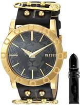 Versus By Versace Women's SF7100015 Miami Analog Display Quartz Black Watch