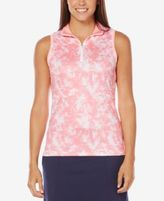 Callaway Floral-Print Sleeveless Golf Polo