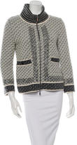 Chanel Embellished Zip-Up Sweater