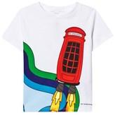 Burberry White Rocket Phone Print Tee
