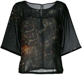 Mini Market Minimarket Suffix city print blouse