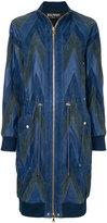 Balmain chevron pattern bomber coat