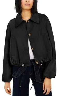 INC International Concepts Inc Drawstring Bomber Jacket, Created for Macy's