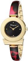 Salvatore Ferragamo Women's FII030015 Gancino Gold Ion-Plated Stainless Steel Bracelet Watch