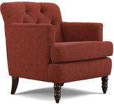 Asstd National Brand Elm Sangria Red Tufted Accent Chair
