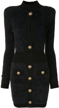 Balmain Button-Detailed Mini Dress