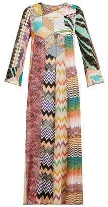 Missoni Lace And Patchwork Kaftan Maxi Dress - Womens - Pink Multi