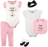 Hudson Baby Pink & White 'All We Need is Love' Bodysuit Set - Infant