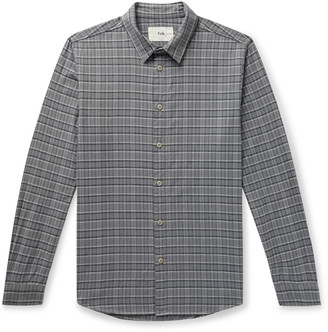 Folk Storm Checked Organic Cotton-Flannel Shirt