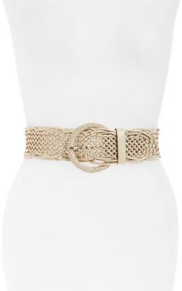 Halogen Woven Leather Belt