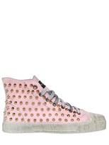 Gienchi 20mm Studded Canvas High Top Sneakers