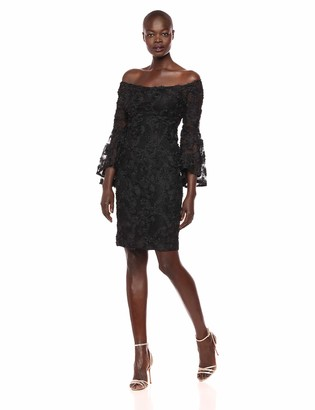 Xscape Evenings Women's Short Off The Shoulder Dress