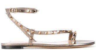 Valentino Rockstud ankle-strap sandals