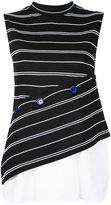Le Ciel Bleu stripe button contrast top