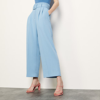 Sandro Wide-leg pants with a belt