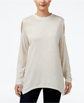 Style&Co. Style & Co. Metallic Cold-Shoulder Top, Only at Macy's