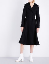 Jacquemus Ladies Black Panelled Traditional Le Manteau Oversized Wool Coat