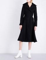 Jacquemus Ladies Black Panelled Traditional Le Manteau Oversized Wool Coat