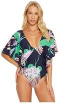 Trina Turk Midnight Paradise Flutter Sleeve One-Piece Women's Swimsuits One Piece