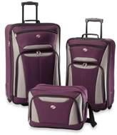 American Tourister Fieldbrook II 3-Piece Rolling Luggage Set in Purple/Grey