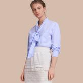 Burberry Cotton Tie Neck Shirt