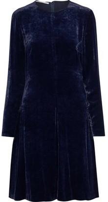 Stella McCartney Cailyn Lace-up Crushed-velvet Dress