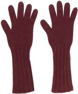 Pringle ribbed long gloves