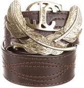 Just Cavalli Leather Logo-Embellished Belt
