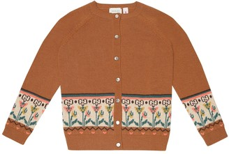 Gucci Kids Jacquard wool cardigan