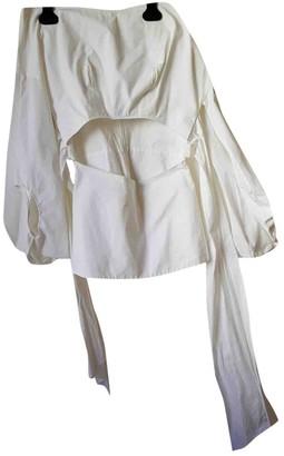 Gabriela Hearst White Cotton Top for Women