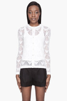Marc Jacobs Ivory cashmere pointelle-knit cardigan
