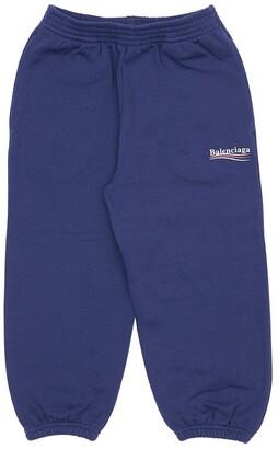 Balenciaga Logo Print Cotton Sweatpants
