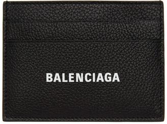 Balenciaga Black Leather Cash Card Holder