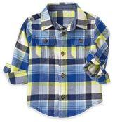 Gymboree Plaid Flannel Shirt in Blue