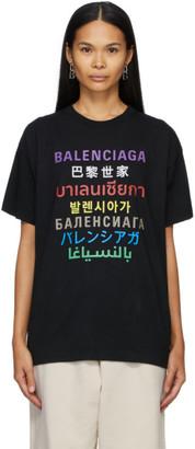 Balenciaga Black Languages T-Shirt