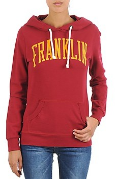 Franklin & Marshall Franklin Marshall TOWNSEND women's Sweatshirt in Red