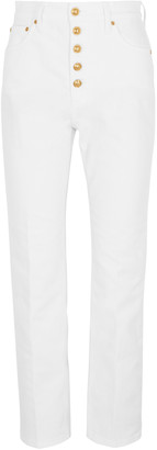 Tory Burch White cropped straight-leg jeans